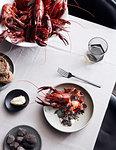 Meal of lobsters