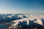 Aerial view of Spitzbergen, Svalbard Islands, Norway