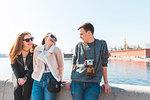 Friends in city, Saint Petersburg, Russia
