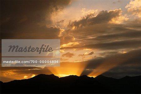 Parc National Banff au coucher du soleil (Alberta), Canada