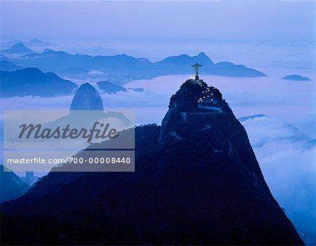 Zuckerhut und Corcovado in Rio De Janeiro Brasilien