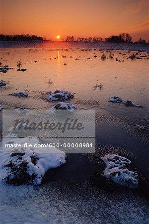 Spring Sunrise near Edmonton Alberta, Canada