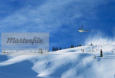 Ski à Valemont en Colombie-Britannique, Canada