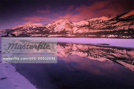 Colin Range, Athabasca River Jasper National Park Alberta, Canada