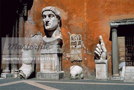 Empereur romain Constantin le grand, Musei Capitolini, Rome, Italie