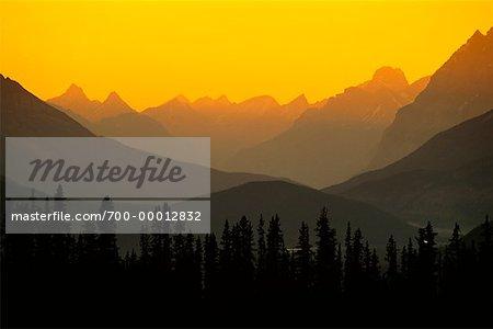 Parc National Jasper au coucher du soleil (Alberta), Canada