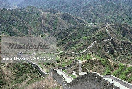 Vue d'ensemble de la grande muraille de Chine