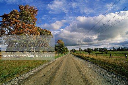 Route rurale Woodville, Ontario, Canada
