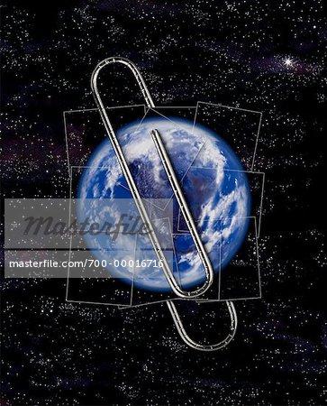 Globe en trombone dans l'espace