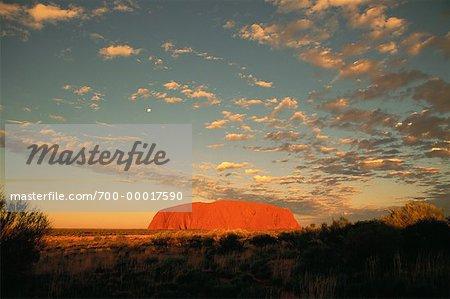 Ayers Rock, Uluru à Uluru Sunset National Parc territoire du Nord, Australie