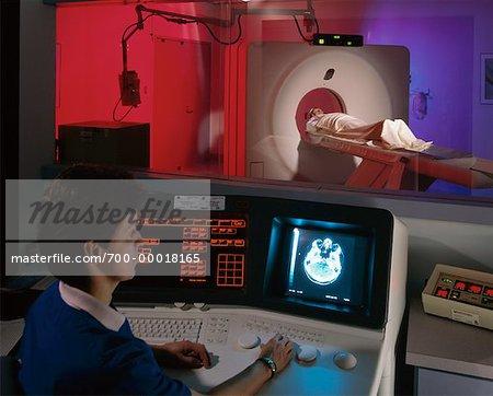 Patient ayant CAT scan