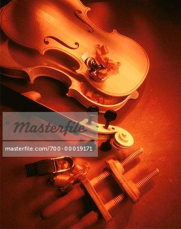 Construction d'un violon