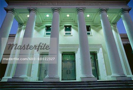 Floride édifice de la Cour suprême au crépuscule : Tallahassee, Floride, États-Unis