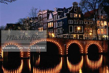 Bridge at Night Amsterdam, The Netherlands