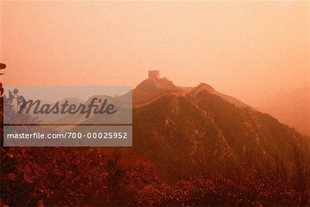 Grande muraille de Chine Sunset