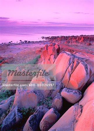 Hudson Bay at Sunset Near Churchill, Manitoba, Canada