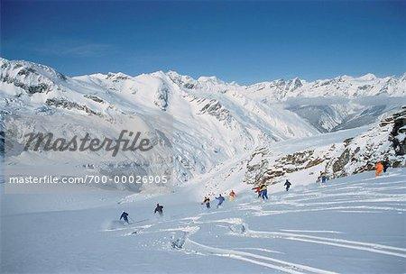 Héli-ski, montagnes Cariboo Colombie-Britannique, Canada