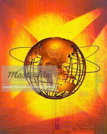 Globe de fil et anneaux Pacific Rim