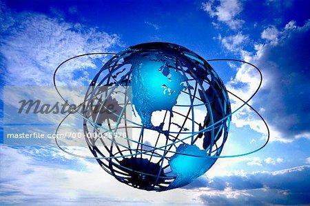 Fil Globe avec anneaux dans le nord du ciel et Amérique du Sud