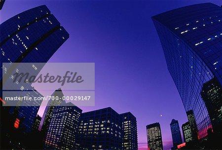Paysage au crépuscule Calgary, Alberta, Canada