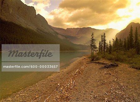 Le lac Maligne et le Parc National Jasper (Alberta), Canada
