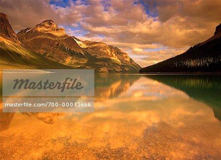 Maligne Lake and Mountains Jasper National Park Alberta, Canada