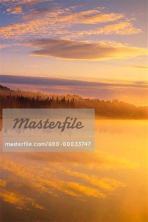 Pic River at Sunrise Near Pukaskwa National Park Ontario, Canada