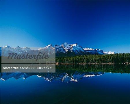 Herbert Lake, Jasper promenade le Parc National Banff (Alberta), Canada