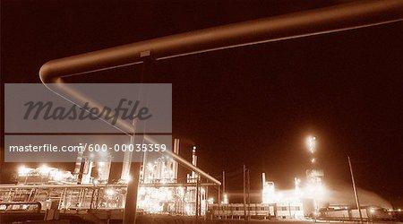 Oil Refinery near Sherwood Park Alberta, Canada