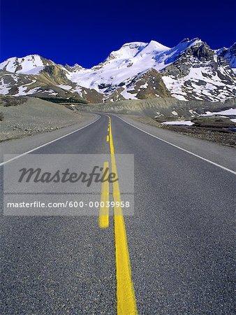Columbia Icefield, autoroute #93 Parc National de Jasper, Alberta, Canada