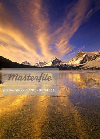 Sunrise over Bow Lake Banff National Park, Alberta Canada