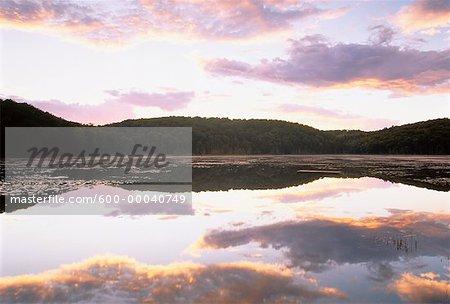 Claypack Lake at Dusk Haliburton, Ontario, Canada