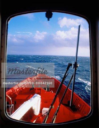 Hublot du navire South Atlantic Ocean