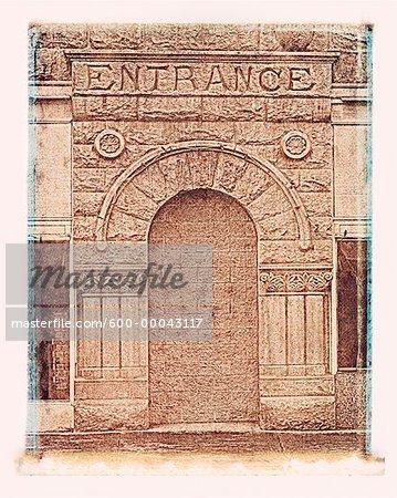 Entrée stonewalled Colfax, Washington, USA