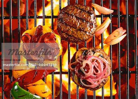 Hamburgers on Barbecue