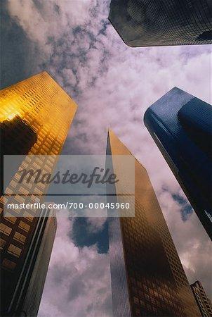 Betrachtung Bürotürme und Himmel Los Angeles, Kalifornien, USA