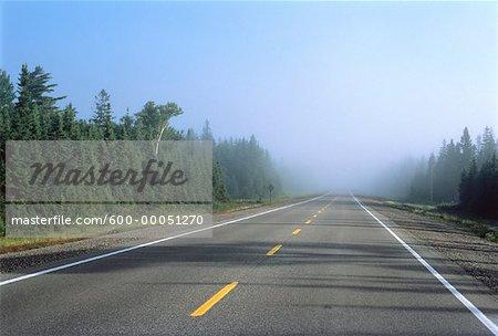 Road and Haze Highway 17, Ontario, Canada