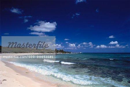 Caribbean Inlet and Beach Cancun, Quintana Roo, Mexico