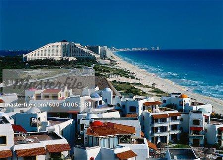 Hotel Area and Beach Cancun, Quintana Roo, Mexico