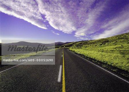 Autoroute, le paysage et ciel New Zealand