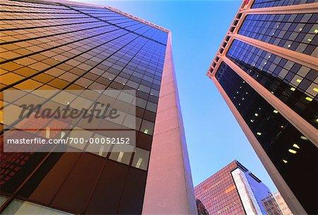 Regardant vers le haut des tours de bureaux Vancouver, Colombie-Britannique Canada