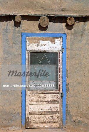 Door of Pueblo Dwelling New Mexico, USA
