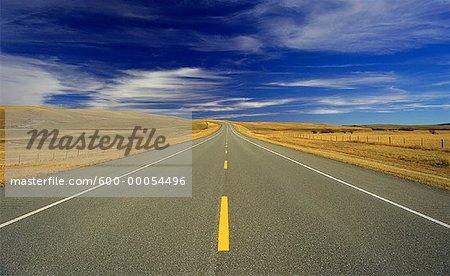 Highway and Sky Alberta, Canada