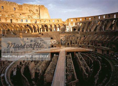 Interior of The Colosseum Rome, Italy