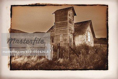 Abandoned Church, Dorothy, Alberta, Canada