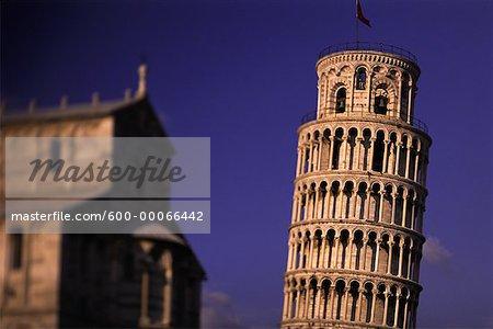 Tour penchée de Pise et bâtiment, Pisa, Italie
