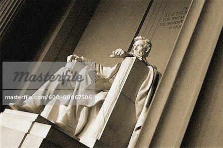 Statue de Lincoln au Lincoln Memorial, Washington, D.C., USA