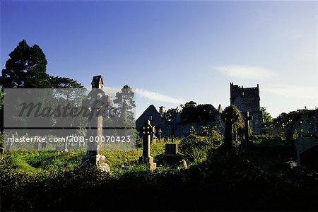 Cemetery at Muckross Abbey Killarney National Park Ireland