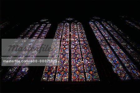 Vitrail dans la cathédrale de Sainte Chapelle, Paris, France
