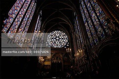 Intérieur de la cathédrale de Sainte Chapelle, Paris, France